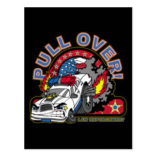 Pull Over Cop Car Postcard