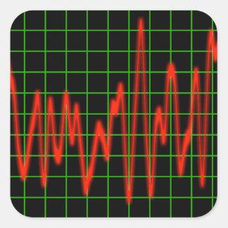 Pulse - Heart Monitor Square Sticker