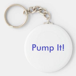 Pump It! Basic Round Button Key Ring