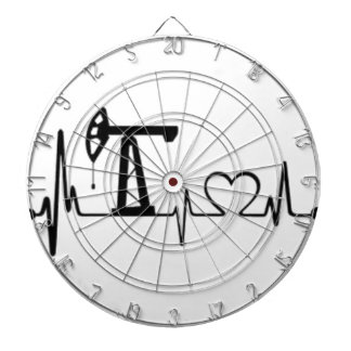 Pump Jack Heartbeat Dartboard