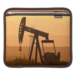 Pump Jack Pumping Oil In West Texas, USA iPad Sleeve