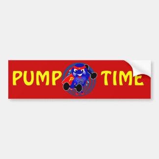 Pump Time Weightlifter Bumper Sticker