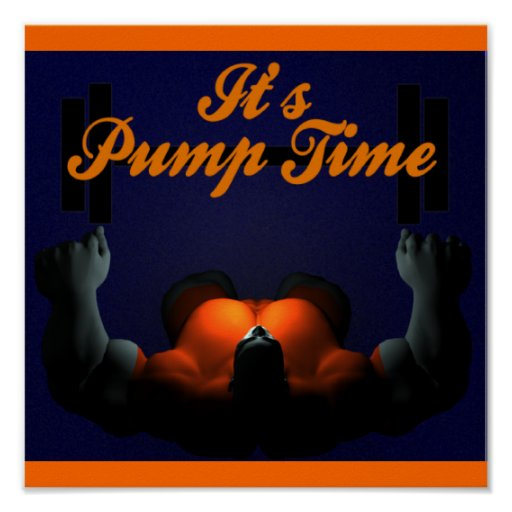 Pump Time Weightlifting Poster