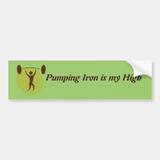 Pumping iron custom bumper sticker