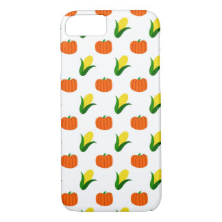 Pumpkin and Corn Pattern iPhone 8/7 Case
