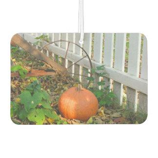 Pumpkin and Plow Car Air Freshener