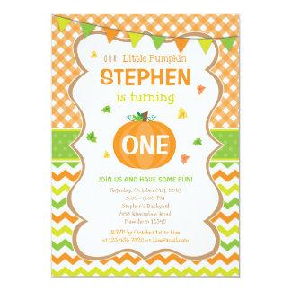 Pumpkin Birthday Invitation / Pumpkin Invite