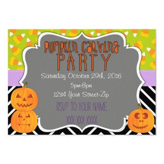 Pumpkin Carving Party 13 Cm X 18 Cm Invitation Card