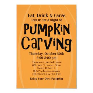Pumpkin Carving Party | Halloween 13 Cm X 18 Cm Invitation Card
