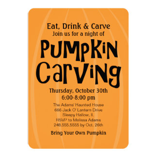 Pumpkin Carving Party | Halloween Personalized Invite
