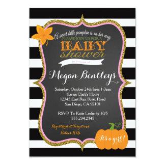 Pumpkin Girl Baby Shower Invitation Invitations