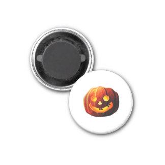 Pumpkin Head 3 Cm Round Magnet
