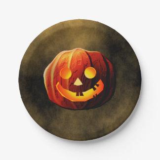 Pumpkin Head 7 Inch Paper Plate