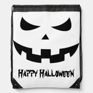 Pumpkin head drawstring bags