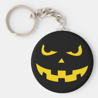 Pumpkin head basic round button key ring