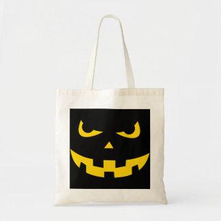 Pumpkin head budget tote bag