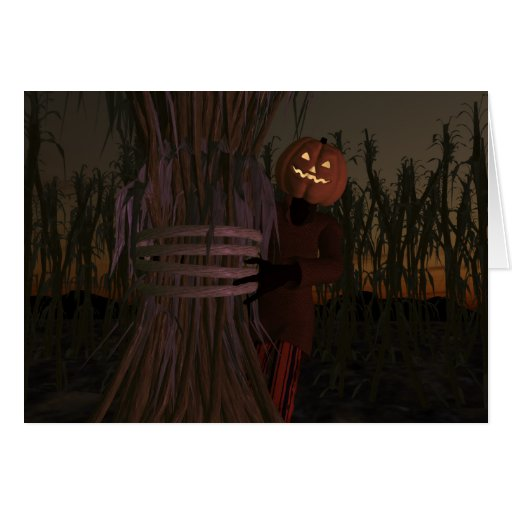 Pumpkin Head Greeting Cards