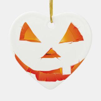 Pumpkin Head Ceramic Heart Decoration