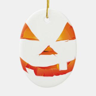 Pumpkin Head Ceramic Oval Decoration