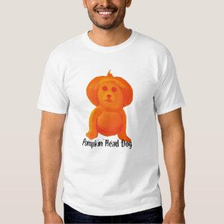 Pumpkin Head Dog Tee Shirt