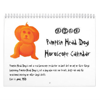 Pumpkin Head Dog Wall Calendars