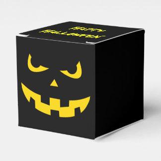 Pumpkin head wedding favour boxes