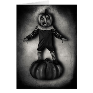 Pumpkin Head Greeting Card