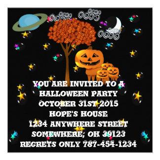 Pumpkin Head Halloween Party Invitations