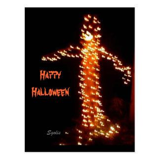 Pumpkin Head Halloween Postcard Postcard