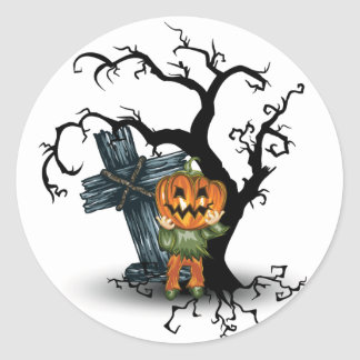 Pumpkin Head Halloween Stickers
