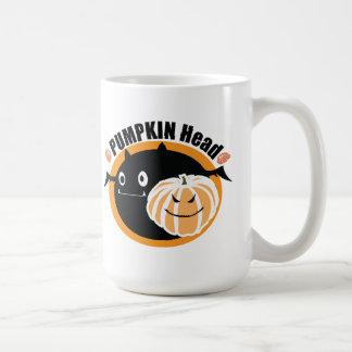 Pumpkin Head Happy Halloween Basic White Mug