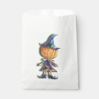 PUMPKIN HEAD & HAT by SHARON SHARPE Favour Bags