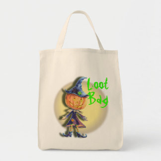 PUMPKIN HEAD LOOT BAG MOON by SHARON SHARPE