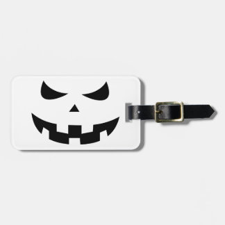 Pumpkin head luggage tag