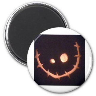 Pumpkin Head 6 Cm Round Magnet