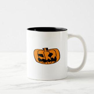 Pumpkin Head Two-Tone Mug