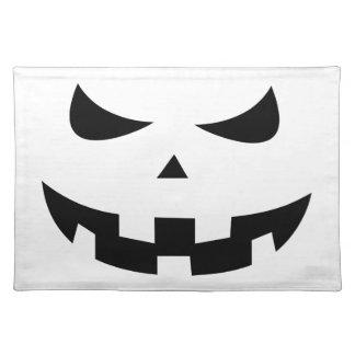 Pumpkin head place mat