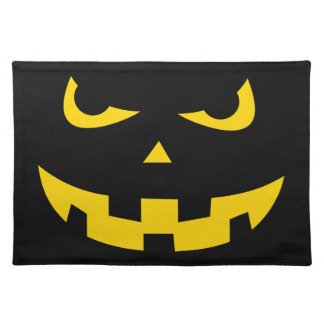 Pumpkin head placemat