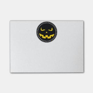 Pumpkin head Post-It notes