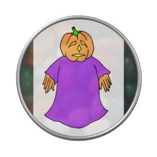 pumpkin head purple goblin jelly belly tin