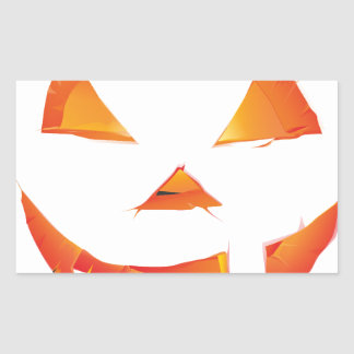 Pumpkin Head Rectangular Sticker