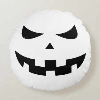 Pumpkin head round cushion