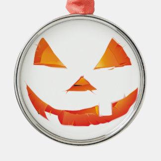 Pumpkin Head Silver-Colored Round Decoration