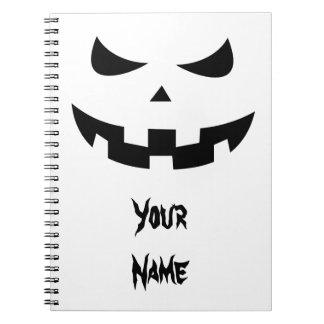 Pumpkin head spiral notebooks