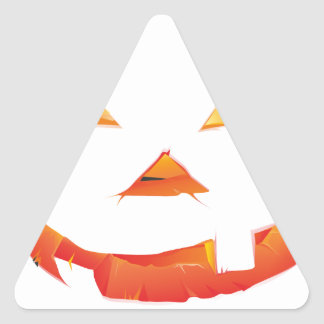 Pumpkin Head Triangle Sticker