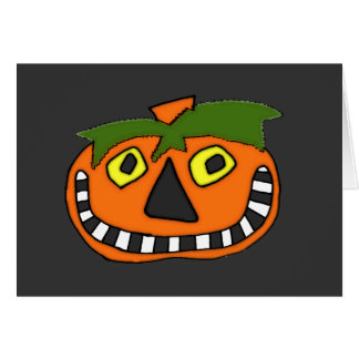 Pumpkin Head Trick or Treat Greeting Card