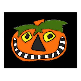 Pumpkin Head Trick or Treat Postcards