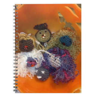Pumpkin heads spiral notebook