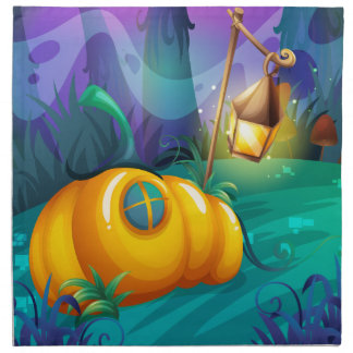 Pumpkin house in the jungle napkin
