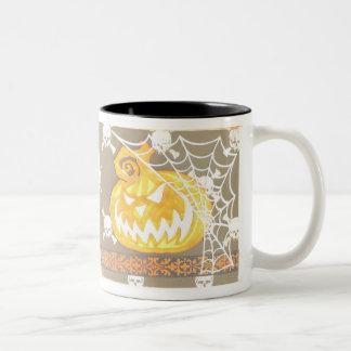Pumpkin in Web Halloween Mug